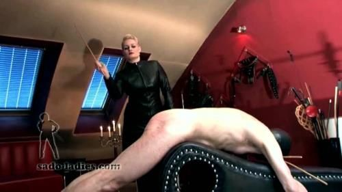 Madame Charlotte - Caning In Leather