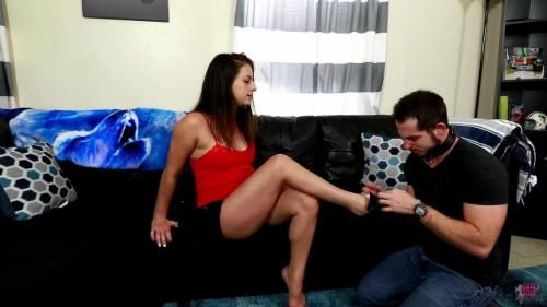 Indica Fetish Turns Cheating Husband Into Her Foot Slave