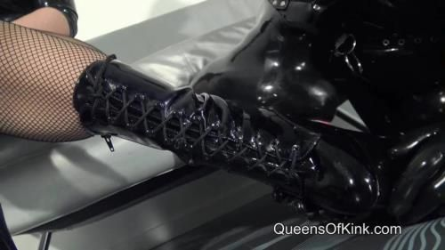 Lady Alice, Fetish Liza - Our Rubber Doll Boot Slut