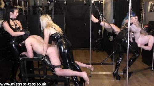 Mistress Tess, Mistress Bliss, Mistress Karina - Triple Dick Rotation