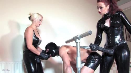 Mistress Heather Divine, Lady Renee - Latex Spit Roast