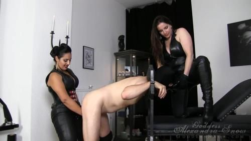 Mistress Ezada Sinn, Goddess Alexandra Snow - Dirty Slut Double Fuck