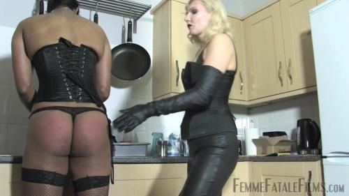 Mistress Akella - Kitchen Caning - Complete Film