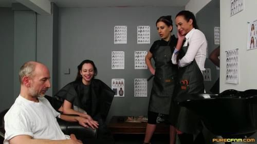 Abigail Angel, Tindra Frost, Vinna Reed - Hairdressers Gown