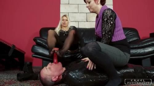 Lady Zita, Lady Maggie - Severe Femdom - Helpless On The Floor