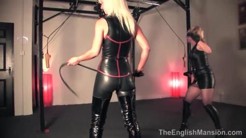 Mistress Vixen, Mistress Sidonia - Suspended Inverted Whipped