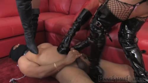 Goddess Aphrodite, Mistress B, Mistress Carly - Kicked To Cum - Complete Film