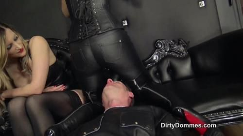 Fetish Liza, Vivienne Lamour, Nikki Whiplash - Human Seat For Three Dommes Part 1