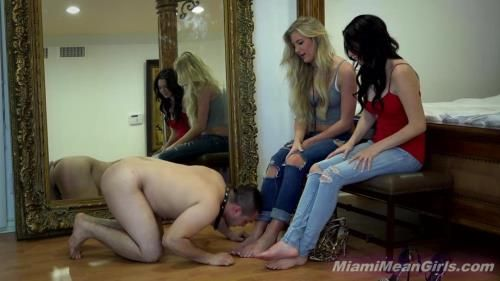 Goddess Harley, Princess Ashley, Princess Monica - Real Foot Slavery Laugh Off