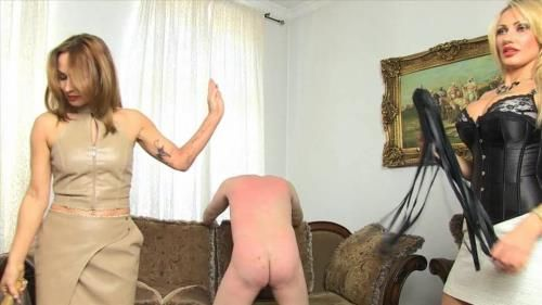 Flogged By 2 Bitches. Lady Constance And Lady Dana