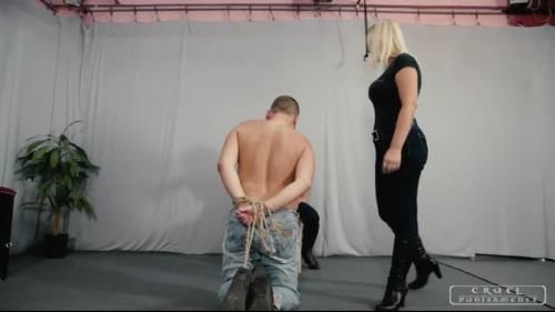 Mistress Zita, Mistress Melanie - Severe Femdom Tribute - Dirty Boot Cleaner