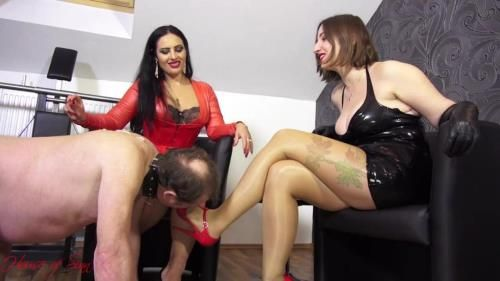 Goddess Ezada, Mistress Evilyne - A Messy Cleaning Duty
