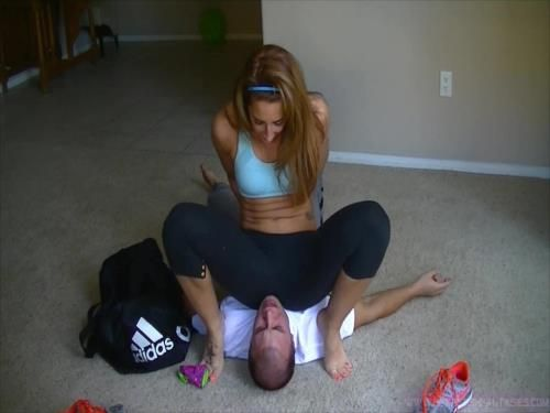 Little Brother Forced To Smell Sisters Smelly Feet, Armpits, And Sweaty Gym Ass