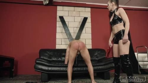 Mistress Anette - Severe Femdom - Boot Licking And Spanking
