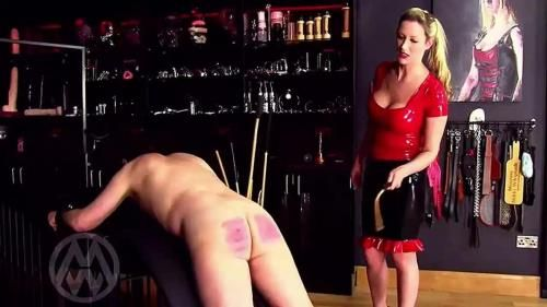 72 Cane Strokes From Latex Mistress Wl1391