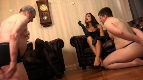 Lady Sofia, Mistress Nemesis - 2 Slaves Dominated And Humiliated