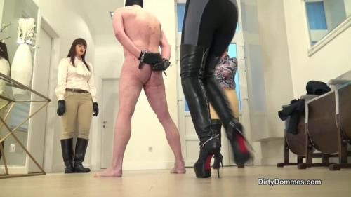 Ballbusting By Strict Riding Mistresses