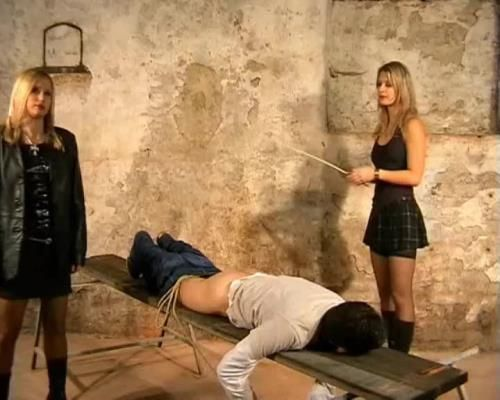 Mistress Kate, Mistress Zita - Caning In The Basement