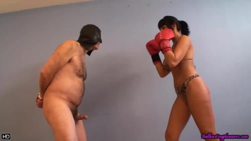 Boxing My Chubby Slave Balls
