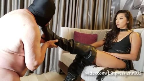 Empress Jennifer - Boot Slave Education