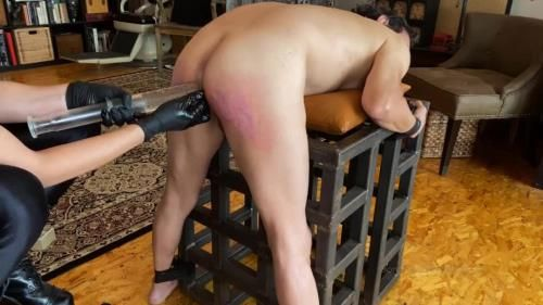 Kino Payne And Elise Graves - Kino Is Punished With Spanking, Paddling, And Syringe Enema Before Being Diapered And Left To Release