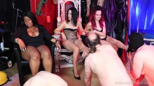 Lady Bellatrix, Mistress Esme, Miss Tiffany Naylor - Three Times The Sweat For Our Foot Slaves