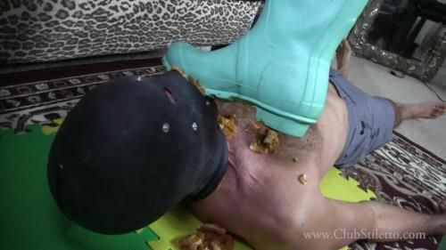 Goddess Amelia - Rubber Boot Trample And Feeding
