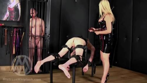 Mistress Nikki Whiplash - No Mercy Caning For Two Naughty Slaves Part I