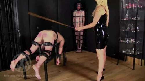 Mistress Nikki Whiplash - No Mercy Caning For Two Naughty Slaves Part Ii Wl1500
