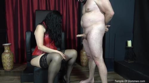 Mistress Alexandra - Feeling Domina Christine Hand On Your Disgusting Worm Is A Privilege