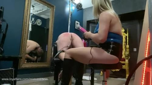 Mistress Tess - Hairbrush Spank And Edging